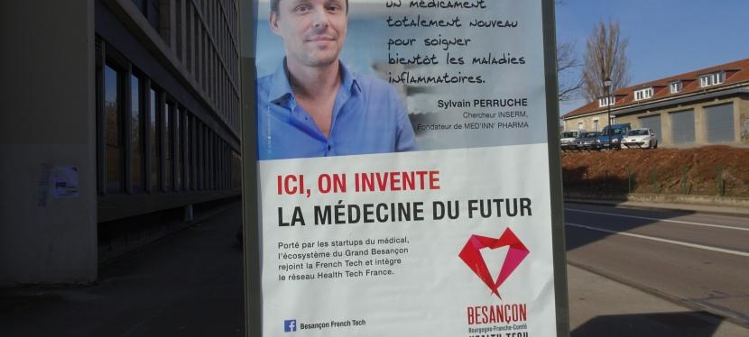 La startup MED'INN PHARMA s'affiche dans le GrandBesançon